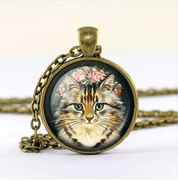 VINTAGE KITTEN NECKLACE