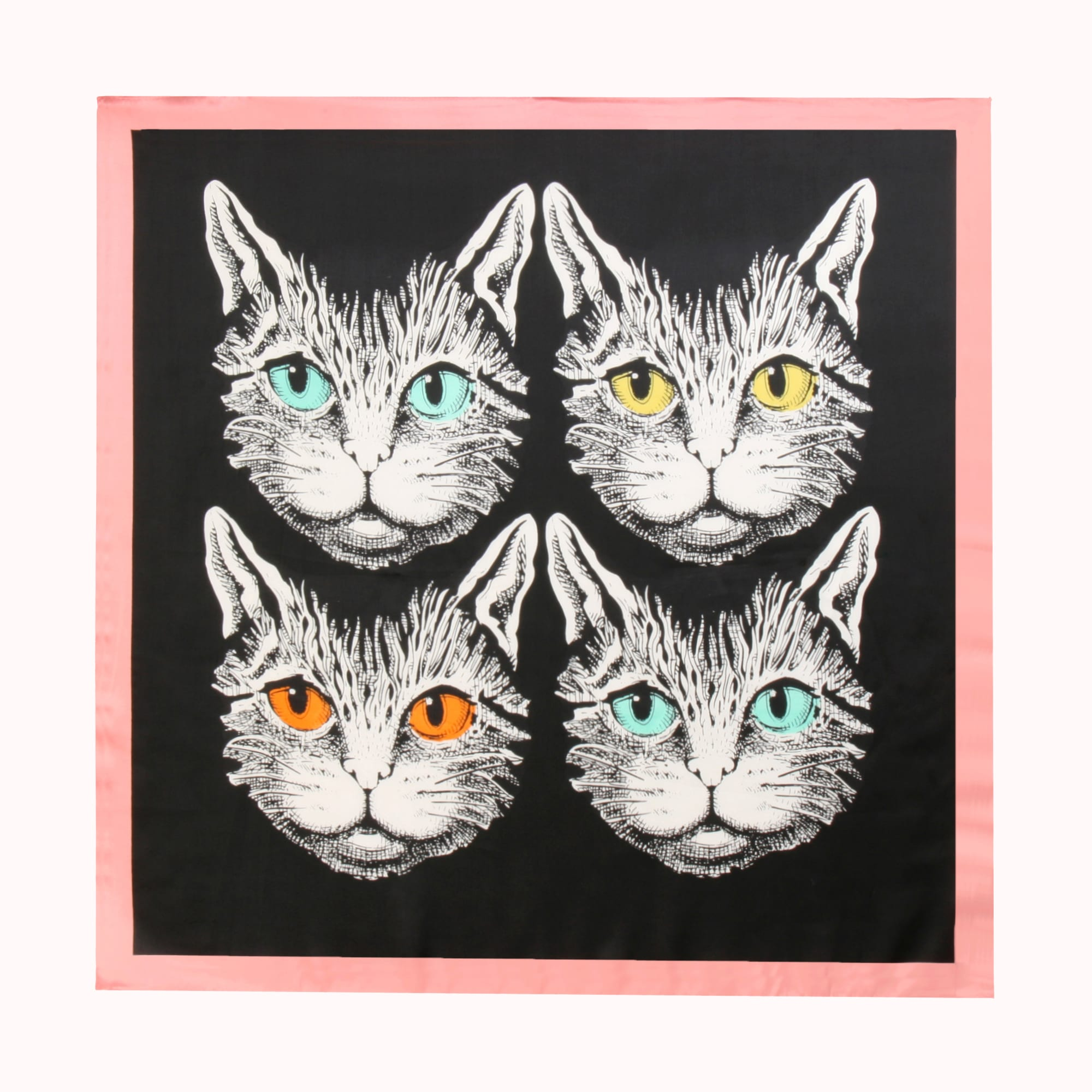 FANCY FELINE FACE SCARF