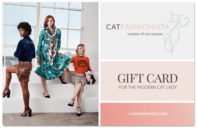 Cat Fashionista Gift card