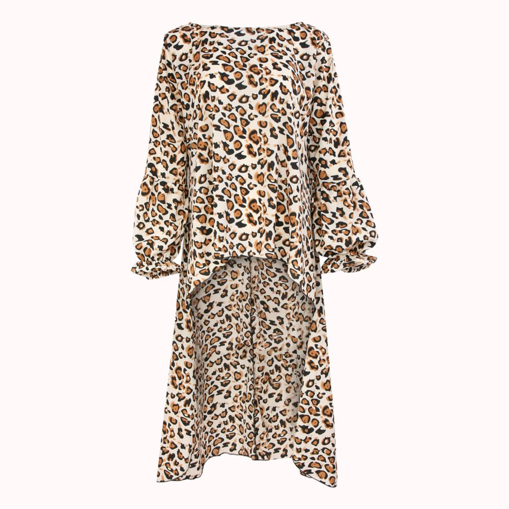 LEOPARD FISH TAIL BLOUSE