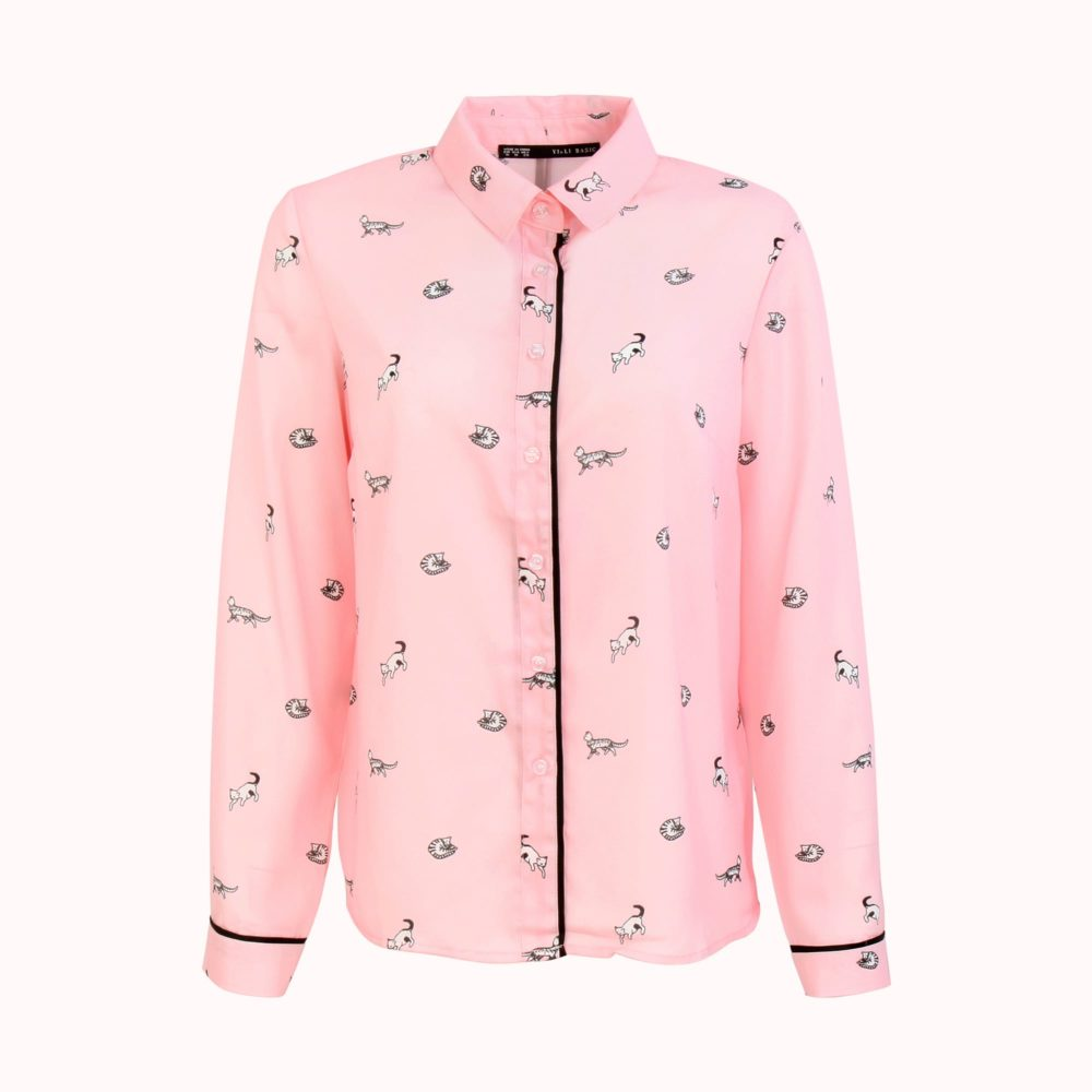 PINK KITTEN BLOUSE