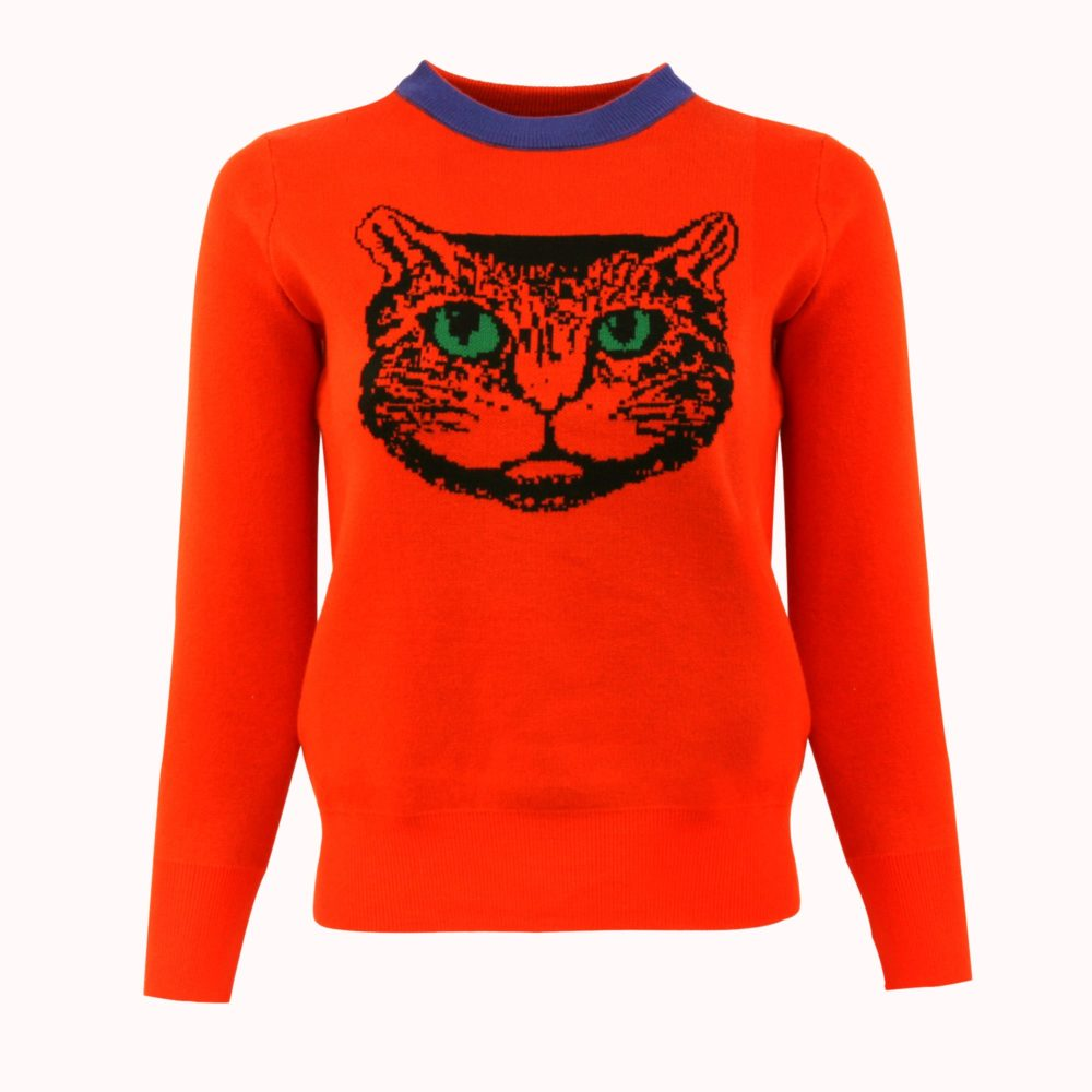 HARAJUKU ORANGE CAT SWEATER