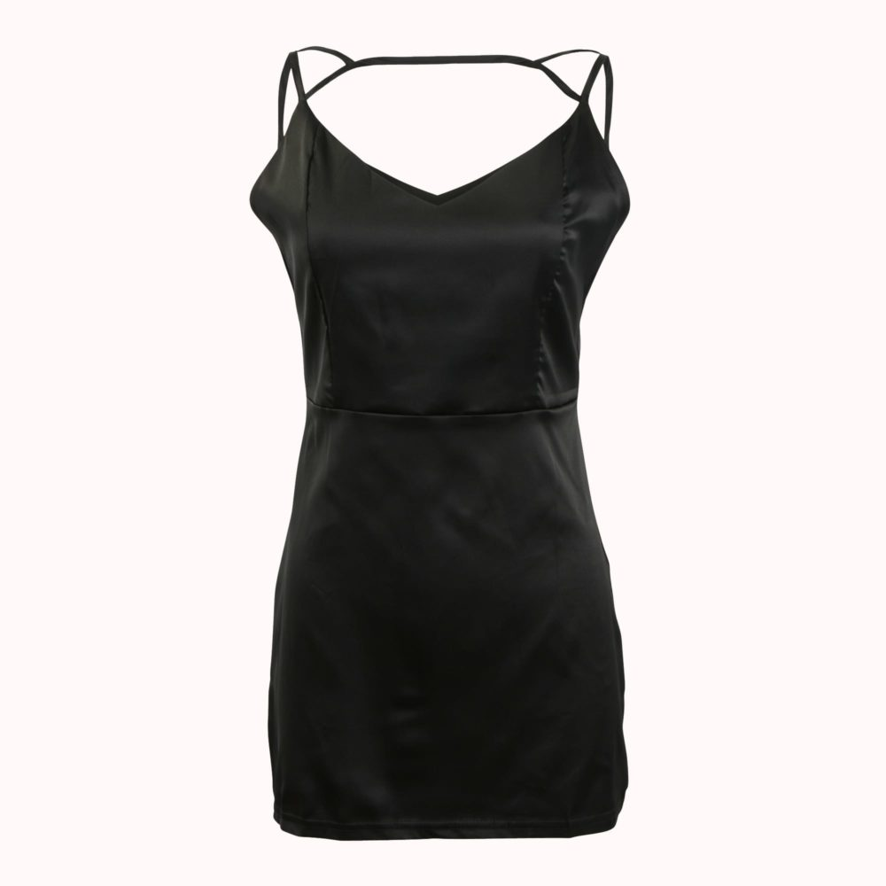 TAKE MEOW-OUT LITTLE BLACK DRESS