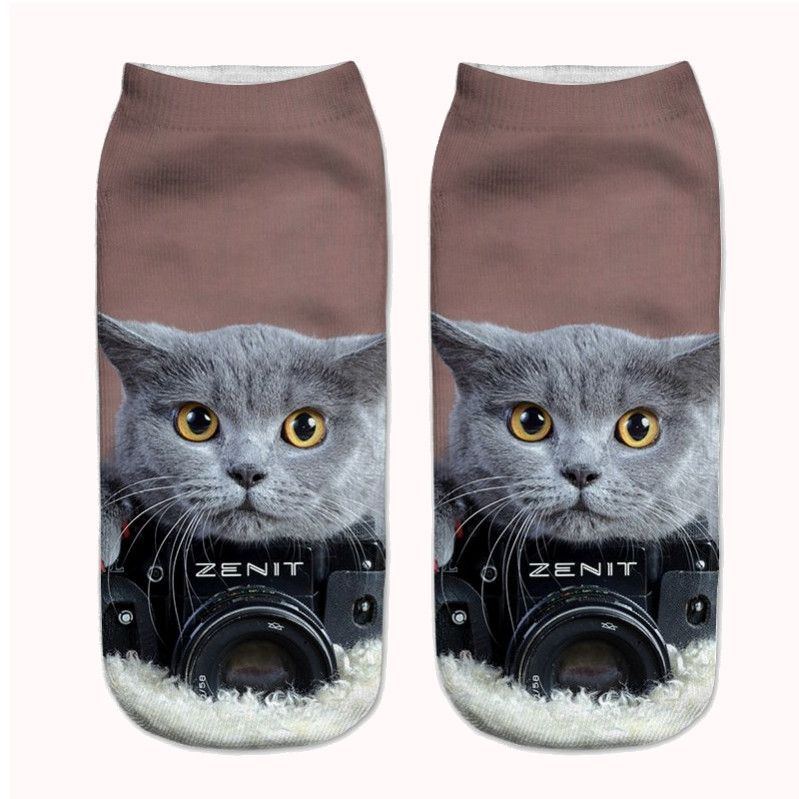 PHOTO READY CAT SOCKS