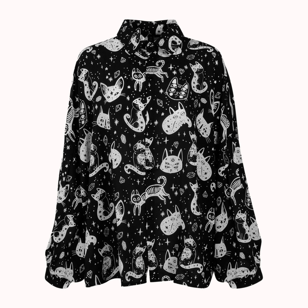 MYSTICAL KITTY BLOUSE