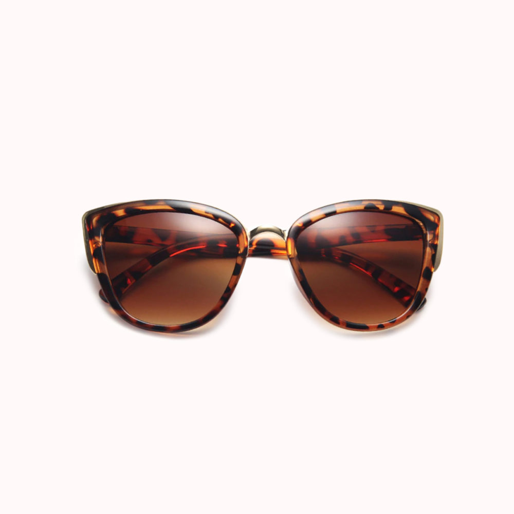 Tortoise-Shell-Gold-Tipped-Cat-Eye-Sunglasses