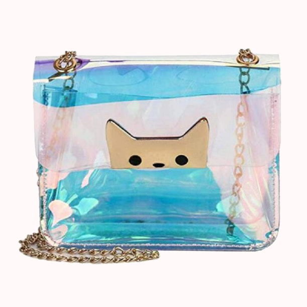 clear cat purse